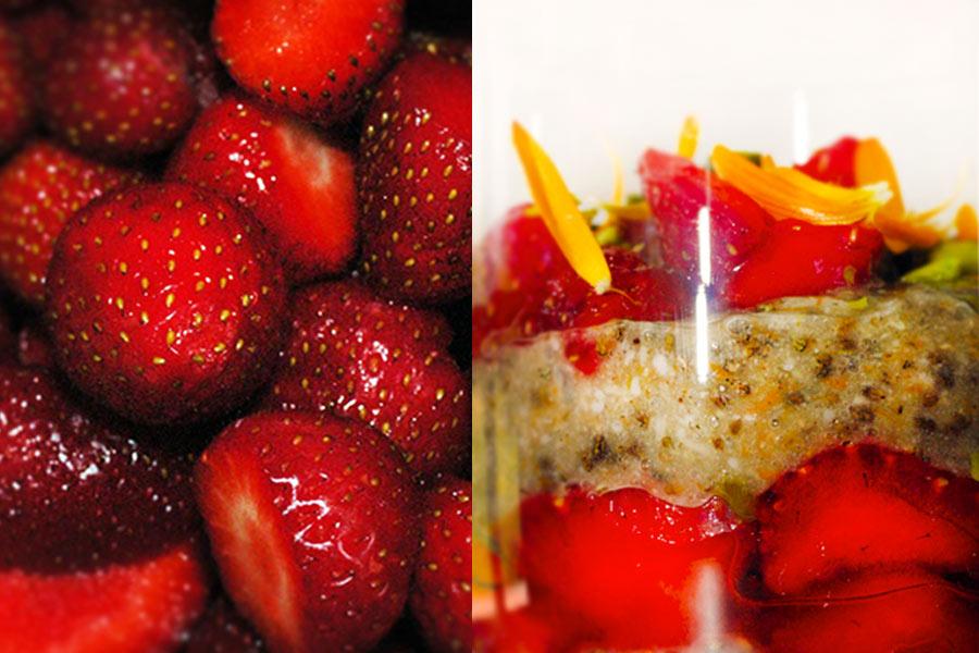 Chia-Gelee mit Erdbeeren