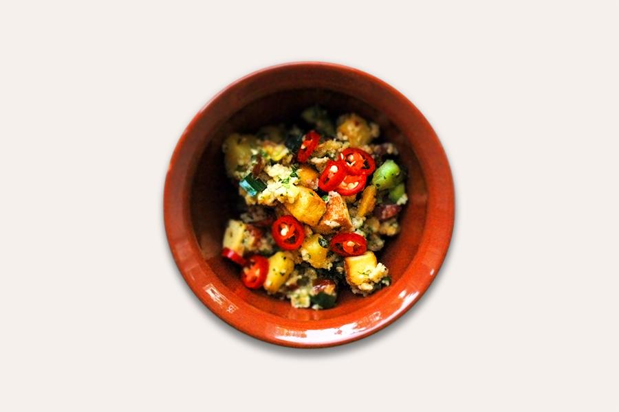 Lauwarmer Couscous-Salat